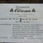 Aushang in Wittigs ehemaligem Ladengeschäft (Wismar 2006)