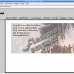 """""""flamme empor!"""" - Internetseite des Freibundes (Screenshot: 15.06.2009)"""