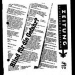 """Die ZEITUNG der """"Deutschen Freischar"""" von 1979"""