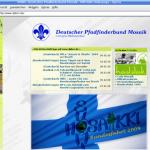 """Screenshot der Internetseite des """"DPBM"""""""