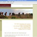 """Screenshot der Internetseite des """"Wandervogel Lippe"""""""
